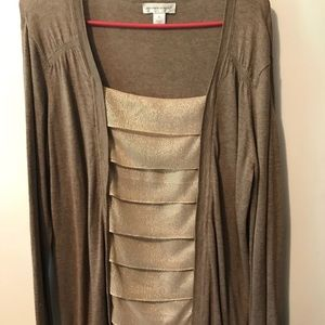 Christopher and Banks two piece look cardigan